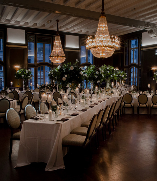 stylish halloween weekend wedding - chicago athletic association