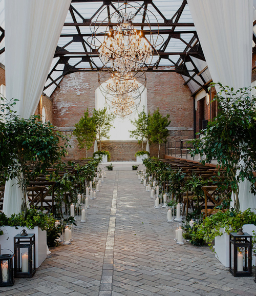 organic sculpture garden wedding - bridgeport art center