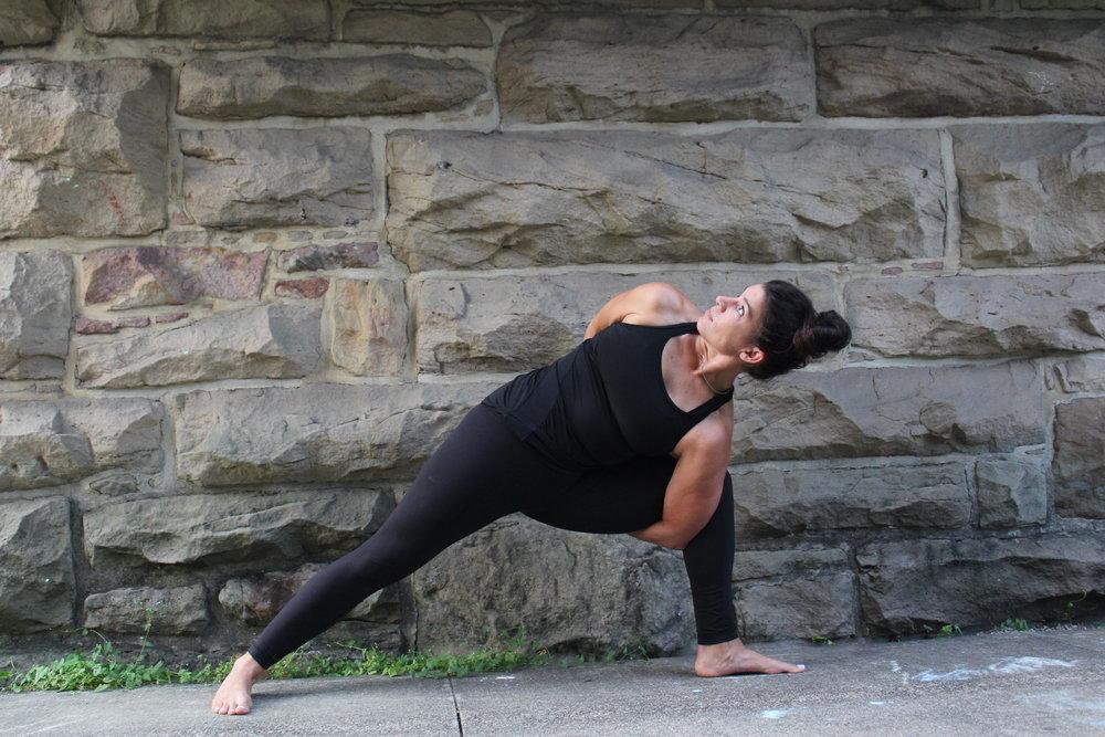 Sarah Miley Yoga Pose