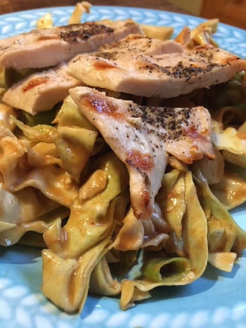 Cold Sesame Cabbage Noodles with Grilled Chicken.JPG