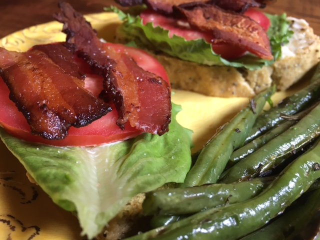 Open Faced BLT with Herbed Green Beans.JPG