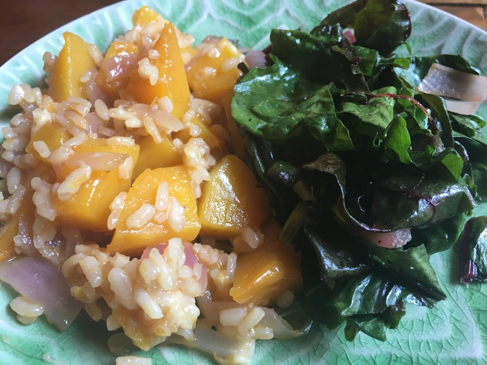Butternut Squash Risotto with Wilted Greens.JPG