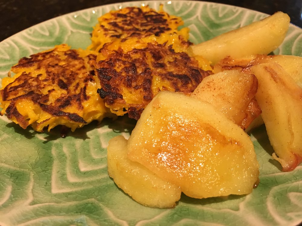 Butternut Squash Fritters w Sauteed Apples.JPG