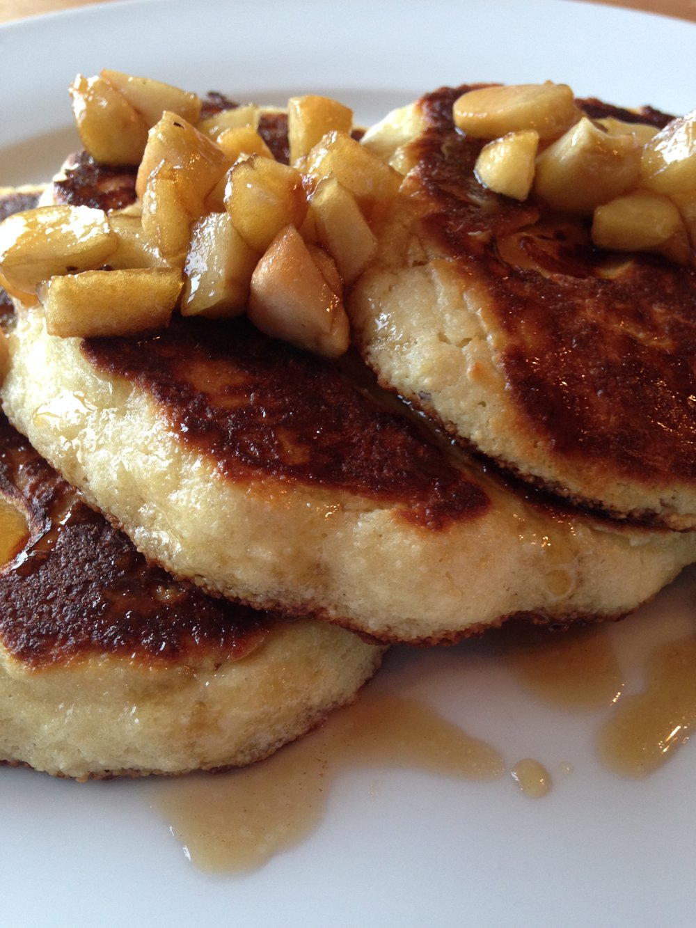 Apple Pancakes w Maple Apple Syrup.JPG