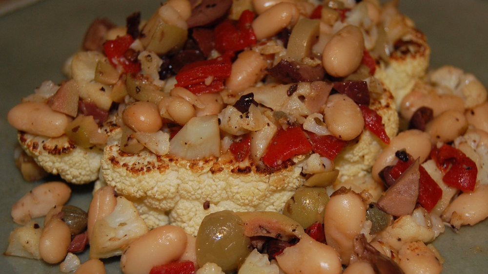Cauliflower Steaks with Tangy-Tart White Beans.PNG