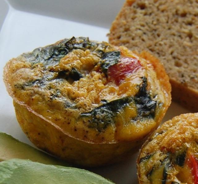 Muffin-Cup Frittata w Almond Bread.JPG