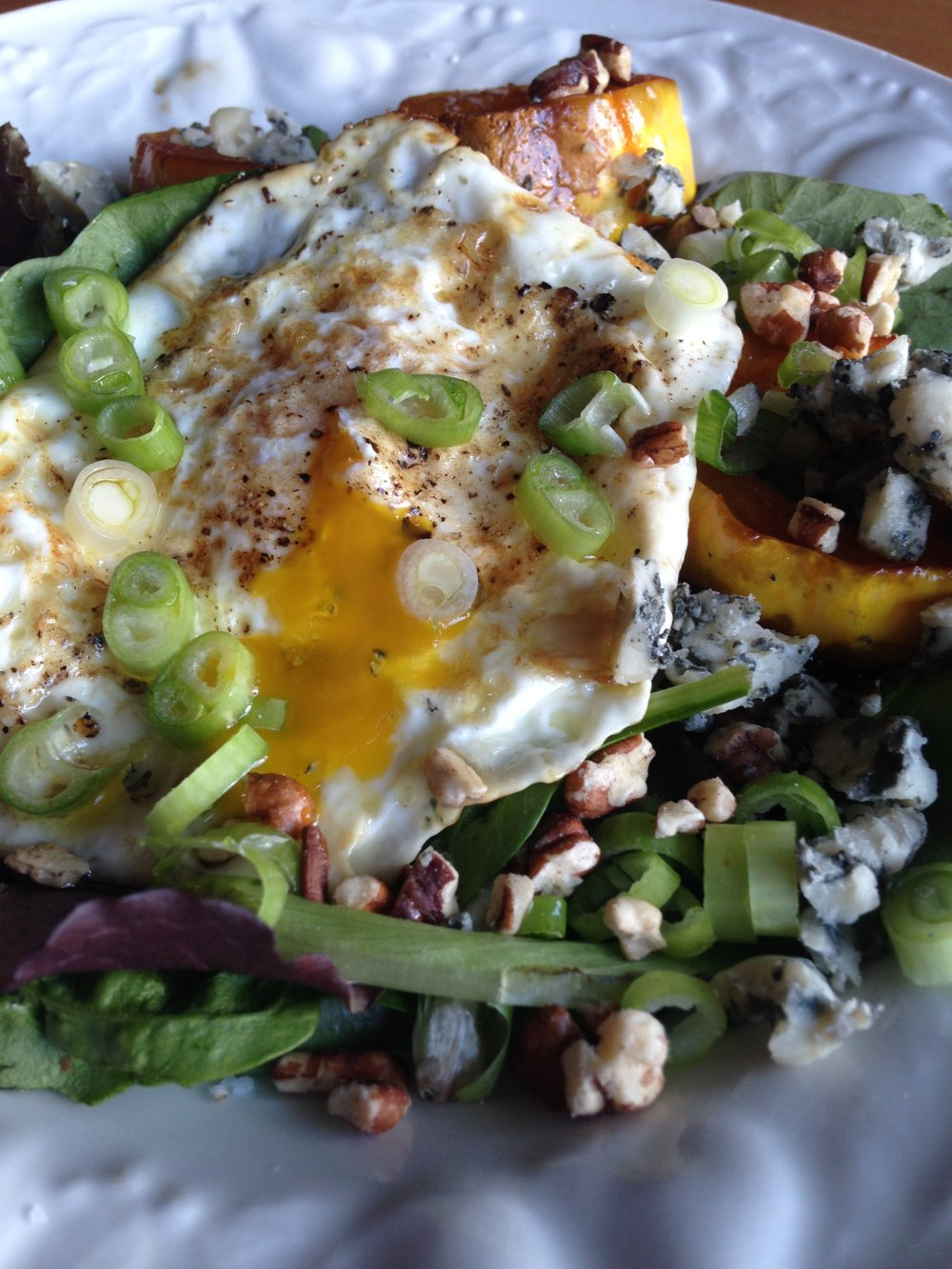 Breakfast Salad w Roasted Squash & Eggs.JPG
