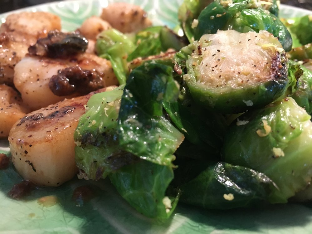 Seared Scallops & Brussel Sprouts.JPG
