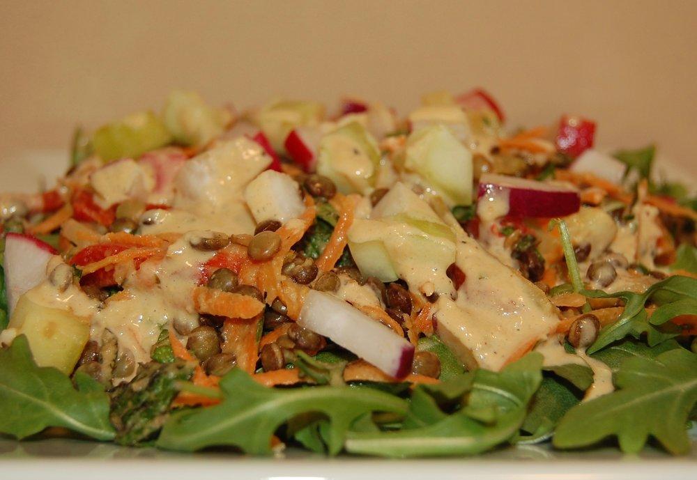 Warm Lentil Salad w Arugula.JPG