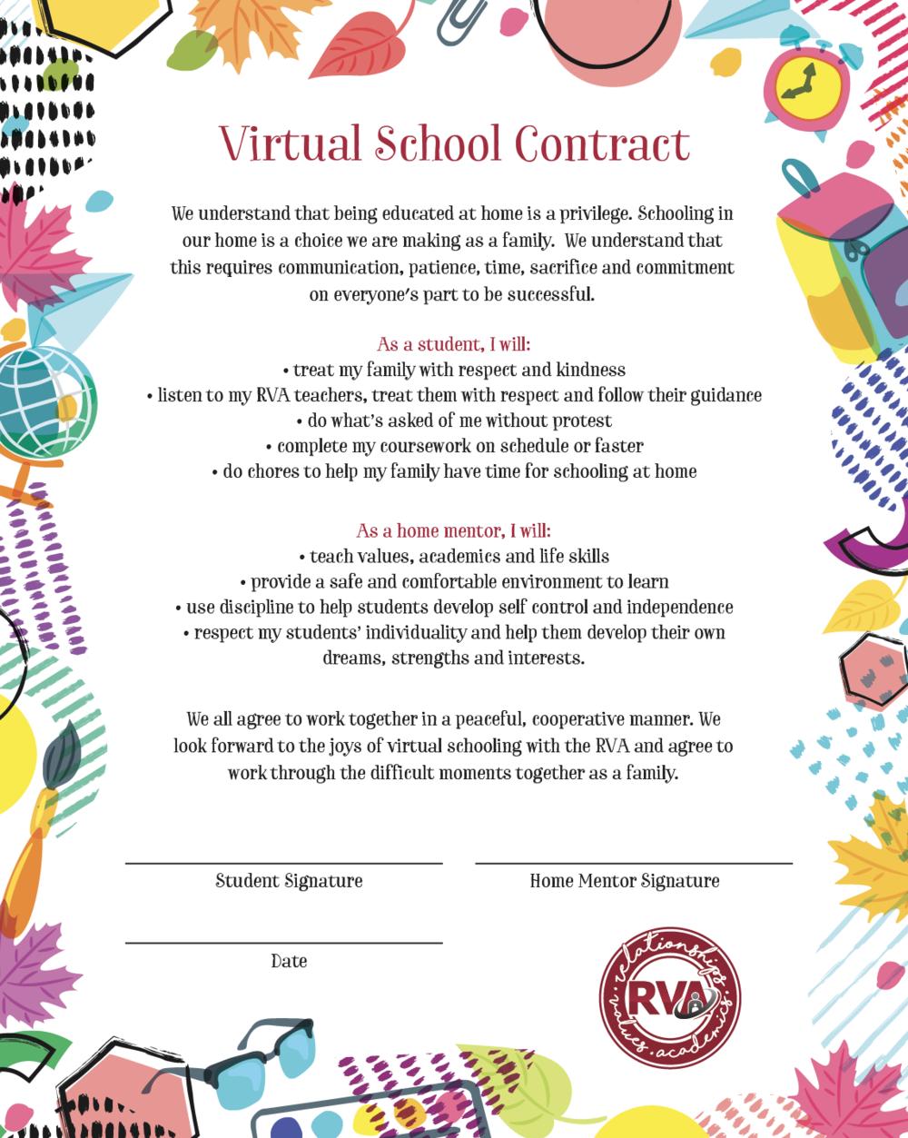 Virtual School COntract