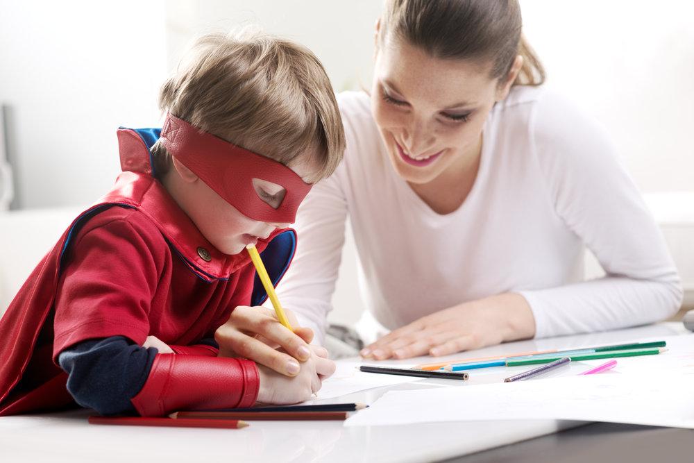 Mom Son Virtual School