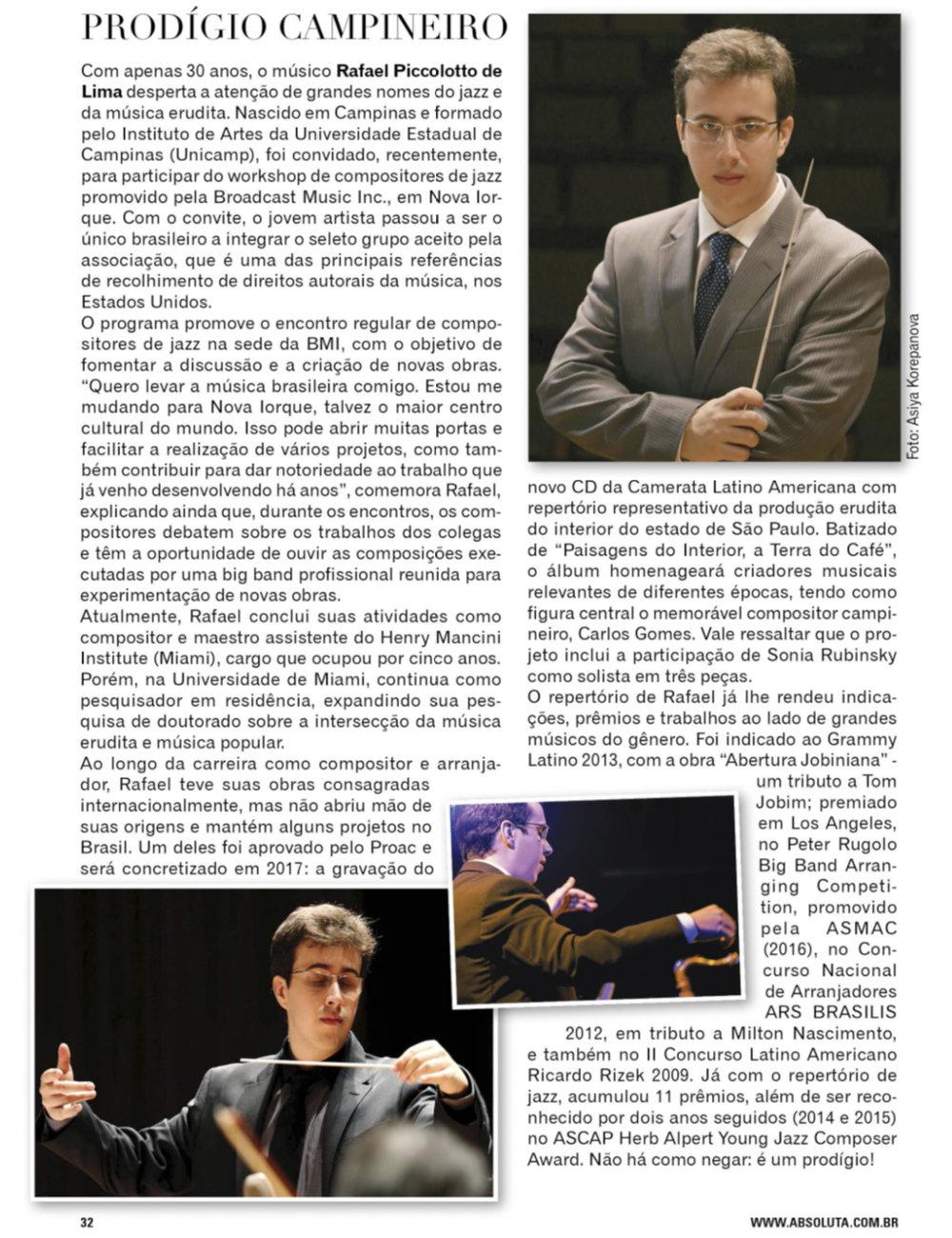 Revista Absuluta, Campinas - São Paulo, Brazil.