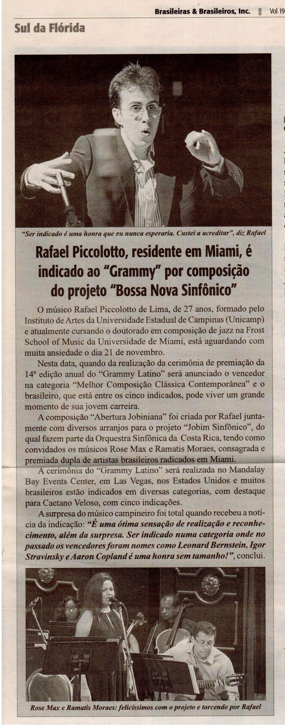 Brasileiros e Brasileiras, Sul da Flórida. Matéria Rafael Piccolotto de Lima