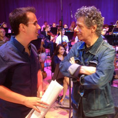 Rafael Piccolotto de Lima and Chick Corea, Arsht Center of Performing Arts, Miami.  (2013)