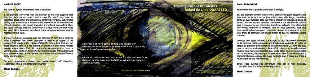 """Arte grafica do CD """"Transfigurações Brasileiras""""."""
