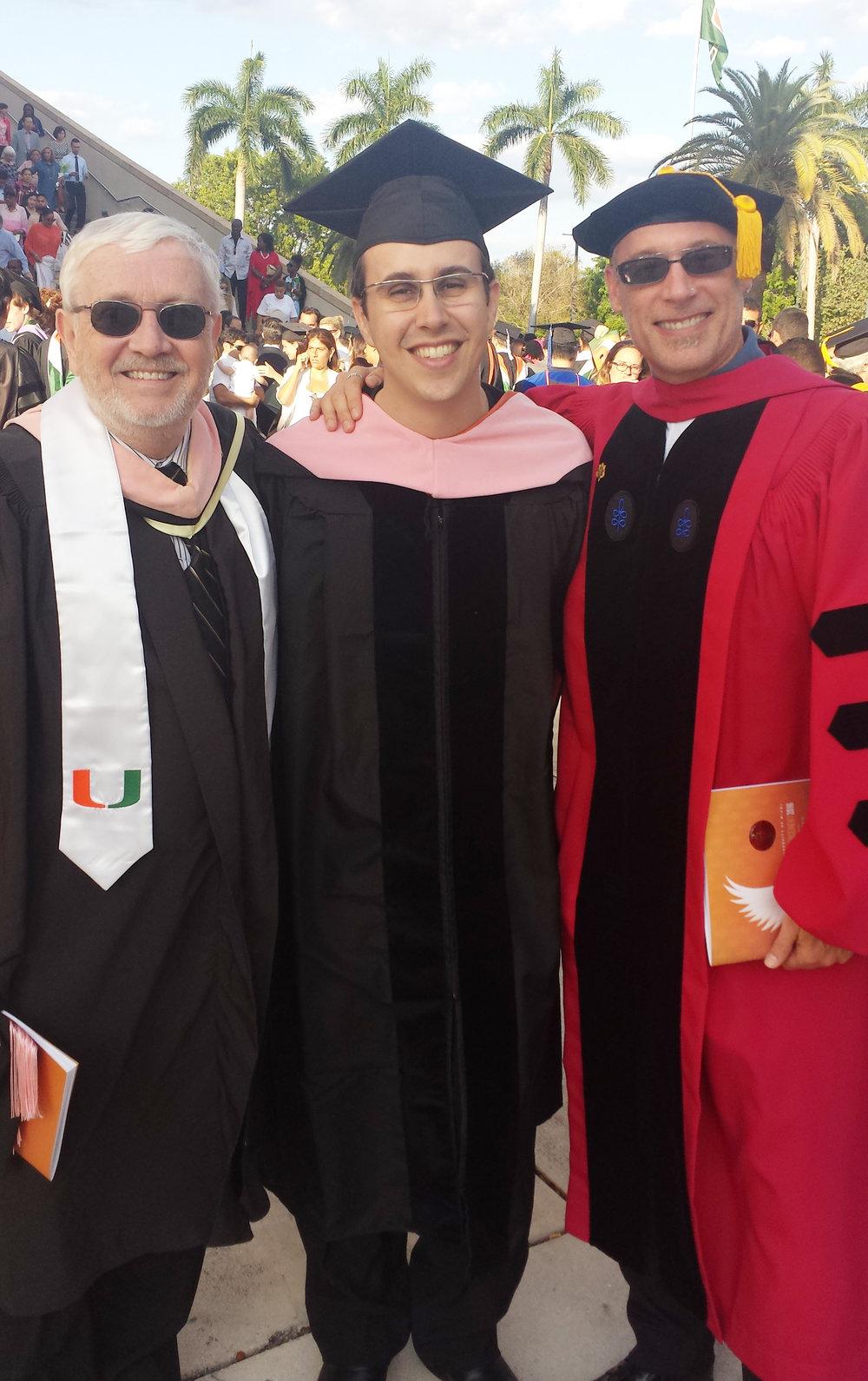 Gary Lindsay (mentor de composição de jazz), Rafael Piccolotto de Lima e Lansing Lansing McLoskey (professor de composição clássica) - Miami, 2016