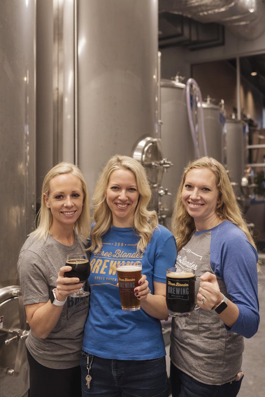 Megan (Blonde #1), Carrie (Blonde #2), Amanda (Blonde #3)