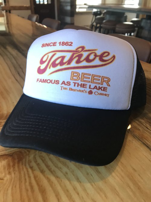 c7df32c3bf1 TAHOE TRUCKER HAT - FAMOUS AS THE LAKE — Brewer s Cabinet
