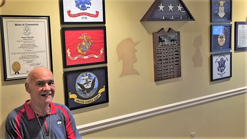 Marine Corps veteran, John Oryell, is the newest veteran to join the community. His name plate is on order.