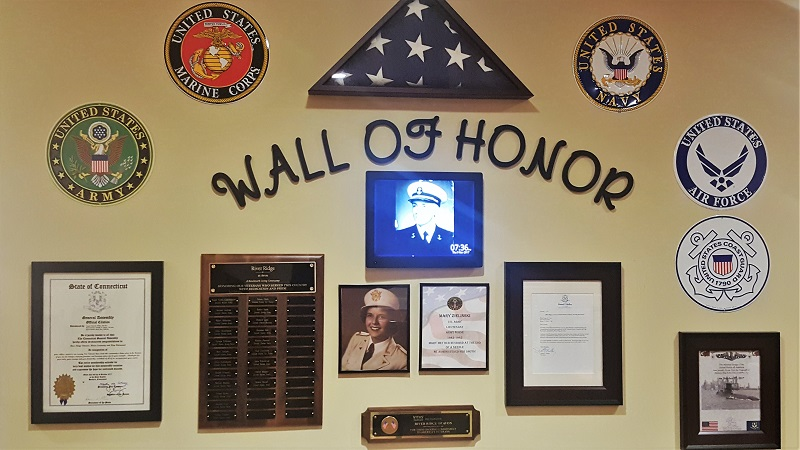 When a veteran joins the community, his or her name is added to the special plaque.