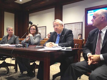 Fran was joined by Regional Director of Operations  Julie Lombardo,  left,   in testifying at the Massachusetts State