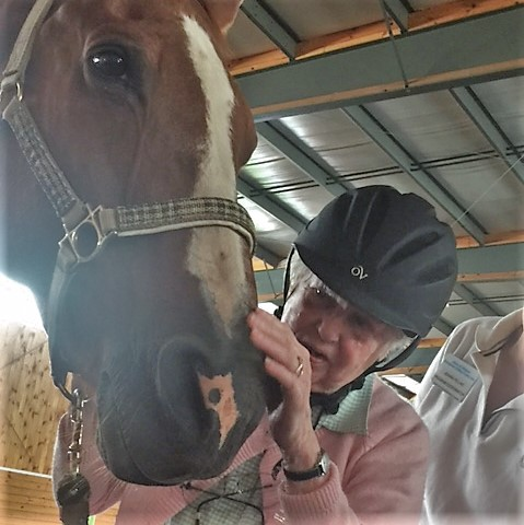 Marie proved to be a horse whisperer when sweet-talking Cisco.