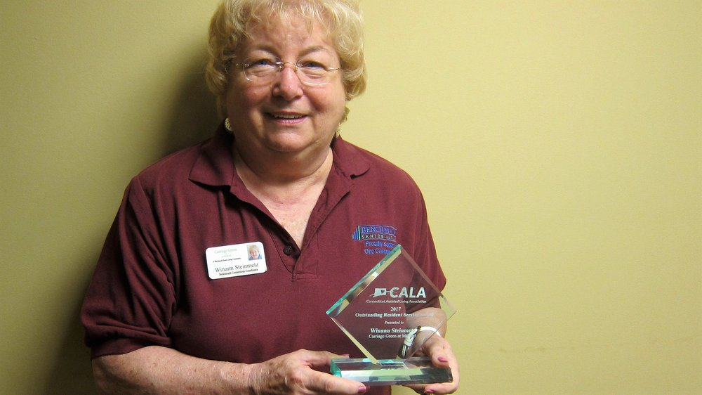 Winann Steinmetz with her well-deserved award for enriching the lives of residents with technology.