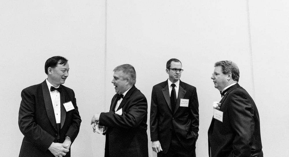 From left, Charlie Wu of BayNorth Capital, Senior Director of Development Ken Littlefield, Matt Devine of BayNorth Capital and John at the 2014 Benchmark Awards Gala.
