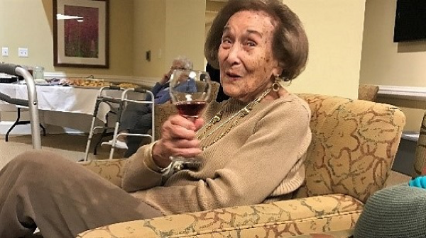 Cheers to Gladys, who just turned 100.