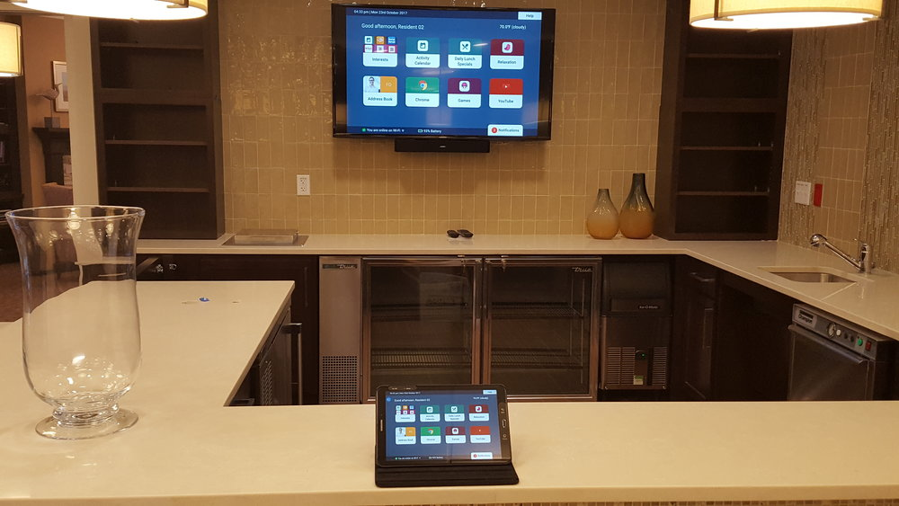 Benchmark's pilot technology program customizes tablets with apps matching a resident's interests.