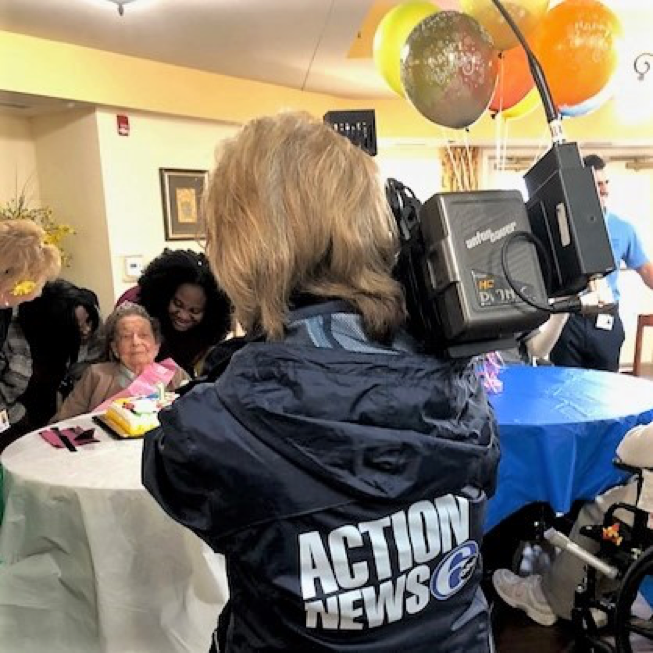 6abc Action News broadcast coverage of Ernestine's celebration.  View it here .