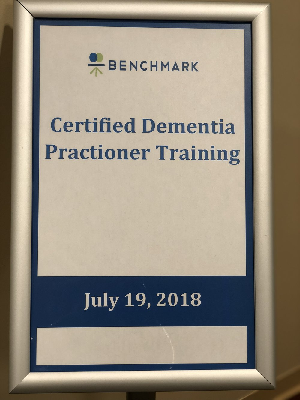 On The Path To Becoming Certified Dementia Practitioners Life At