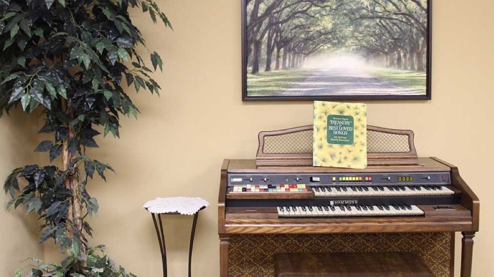 The Spiritual Center wouldn't be complete without an organ.