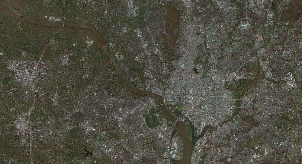 Aerial Photo, Potomac and Anacostia Rivers