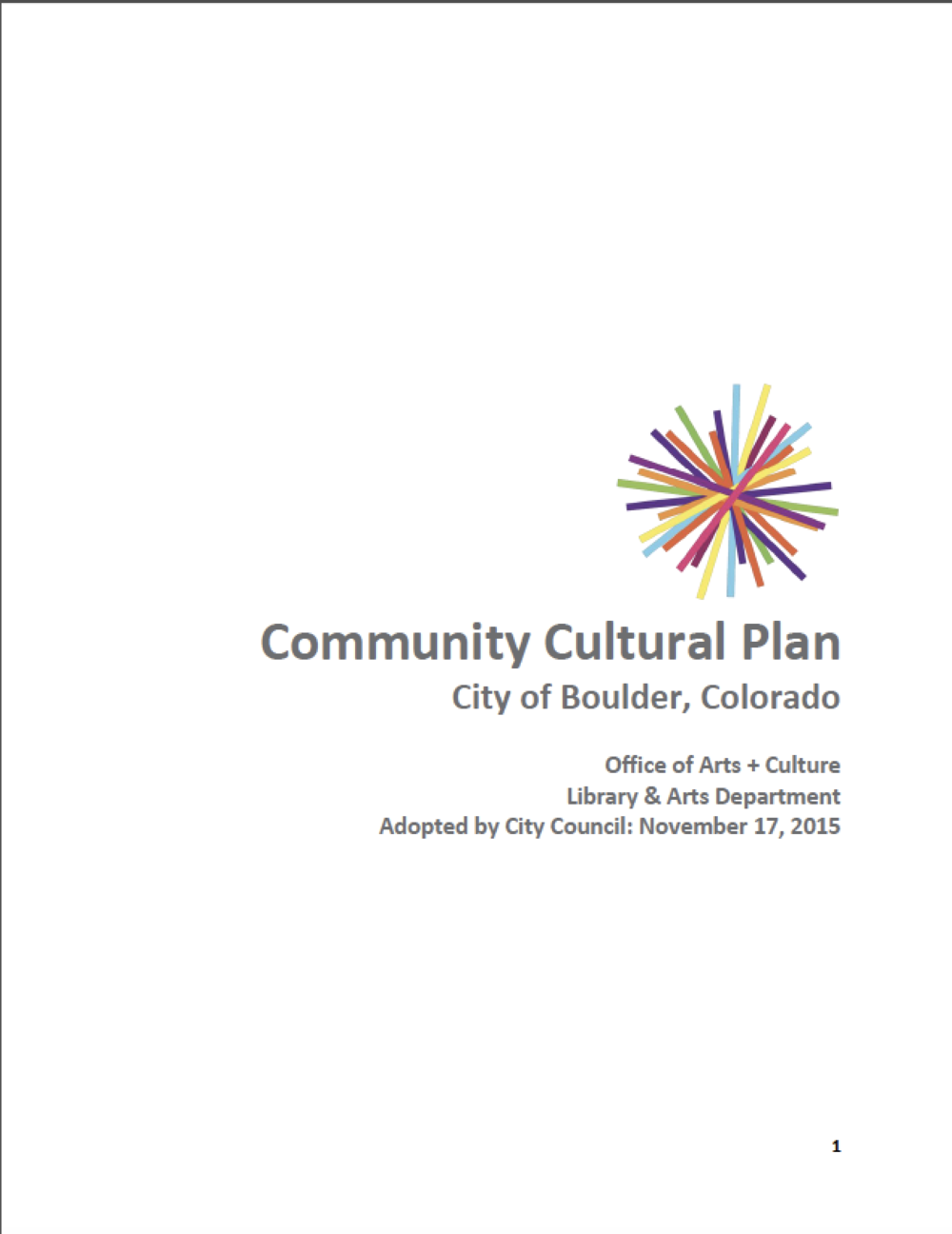 Community Benchmark: Boulder