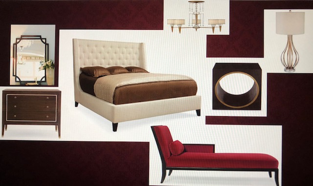 Brown and Red Bedroom.