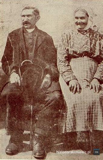 Michał Drzymała z żoną Józefą. Źródło:http://www.historiarakoniewic.pl/michal-drzymala/