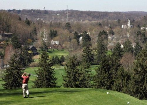 The 18th Tee at The Denison Golf Club at Granville