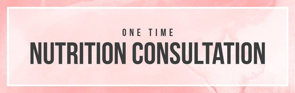 One time nutrition consultation