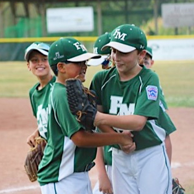 My son's smiling face after pitching a no hitter for his All Star team.
