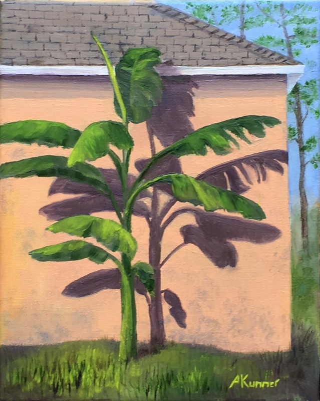 Shadow (Banana Palm, Orange Stucco)