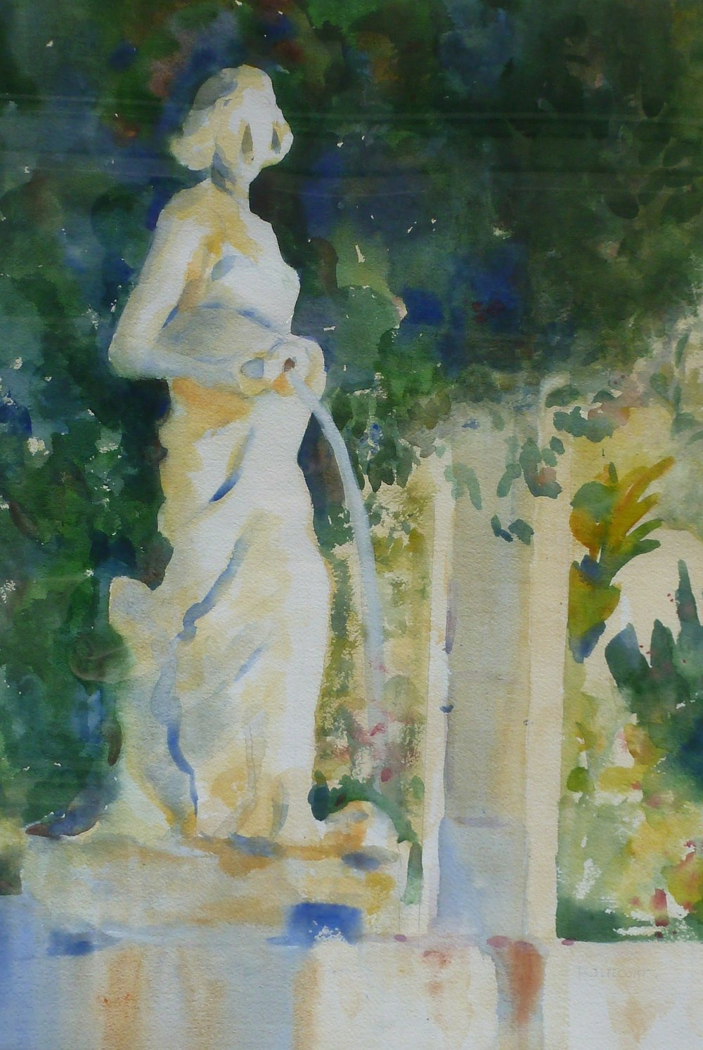 Rachel at the Well       Watercolor      Framed  28hx22w       $500