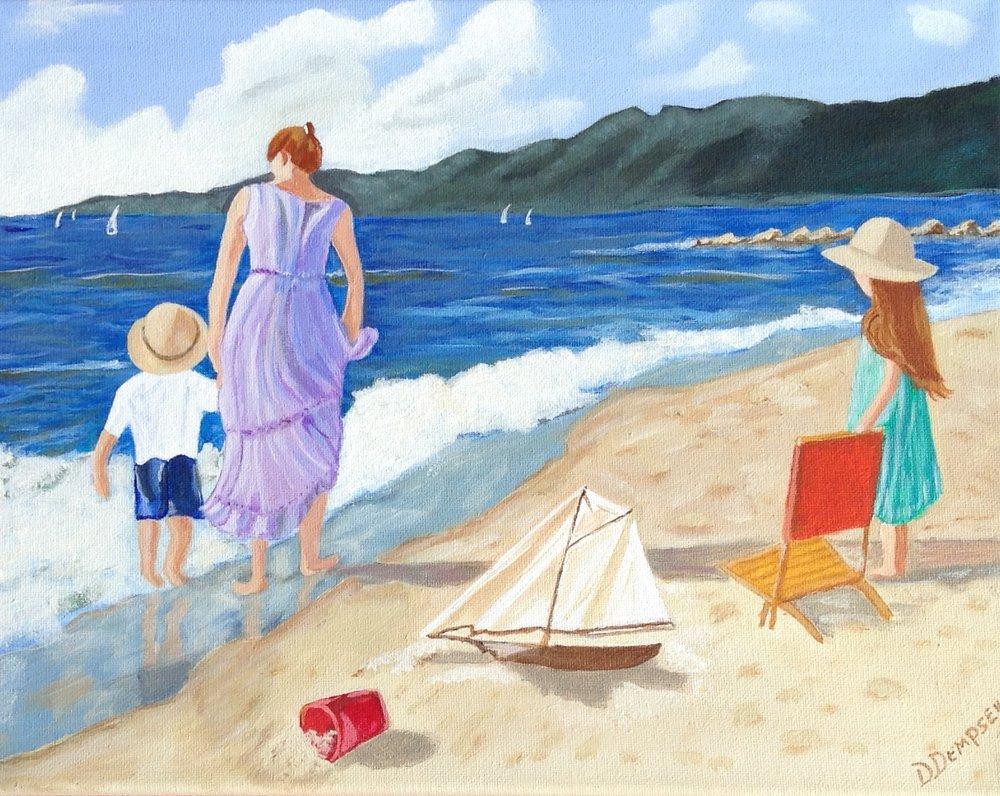 """""""Exploring the Shores""""   Acrylic   11x14   $249.00"""