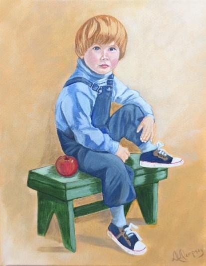 """Ready For School""   Acrylic   11x14   $249.00"