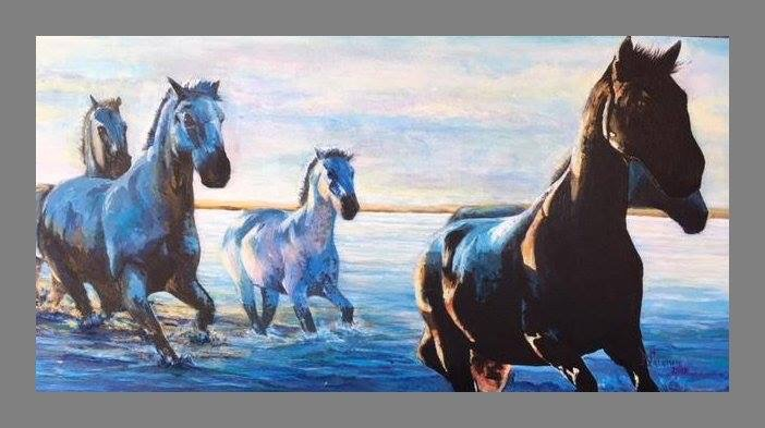 """Crossing into Twilight""    18x36   Acrylic    $1200"
