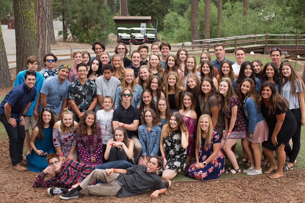 High school ministry at Hume Lake Christian Camp Summer 2017