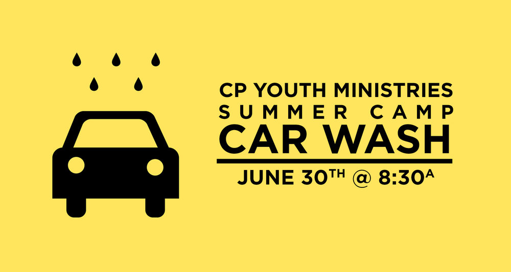 Hume Car Wash - Saturday, June 30th from 8:30a to noonIt's crazy to think that our students will be leaving in a few weeks for Hume Lake Christian Camps! We are so excited to see what God will do in them. But before the kids jump on the bus, they will be holding their annual Car Wash-A-Thon to help raise money. It's like a jog-a-thon, students get sponsored per car and then on Saturday, June 30th, they wash as many cars as they can. It's a great way for the students to raise money for camp. Also, it's FREE to have your car washed! Whether you sponsor a student or not, bring your car and the kids will wash it, absolutely free! So make sure to stop by Saturday, June 30th between 8:30a and noon and help our students get one car closer to a great week at Hume Lake!