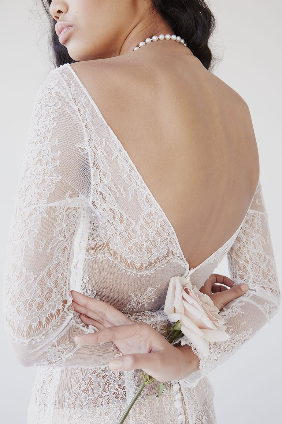 Anna Campbell Milla Dress | Vintage-Inspired Long Sleeve Lace Wedding Dress | Image via Together Journal