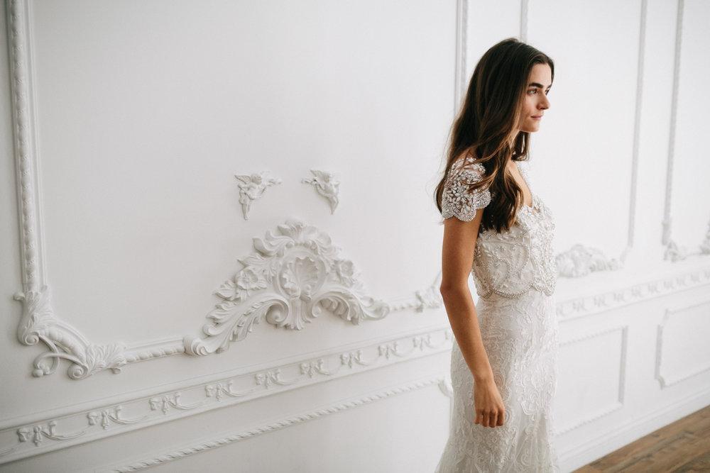 Anna Campbell Vintage-Inspired Hand-Embellished Anna Dress