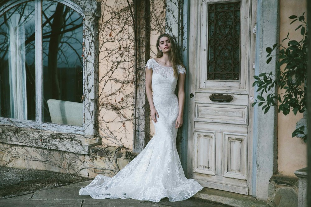 Anna Campbell Georgia Dress | Vintage inspired Capped Sleeve Low Back Wedding Dress